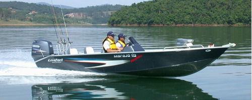 lancha marajo 19 machine com motor 60 hp