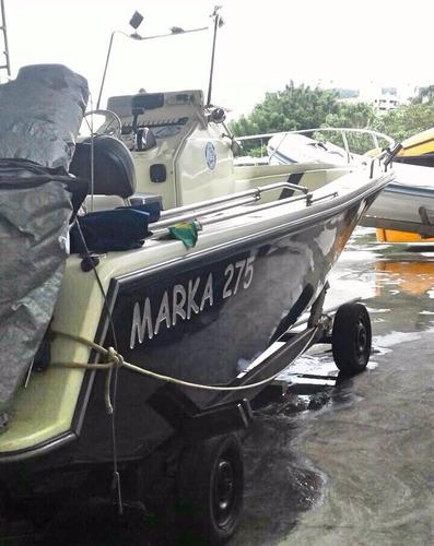lancha marka 275 + motor mercruiser 4.3 220hp + acessórios