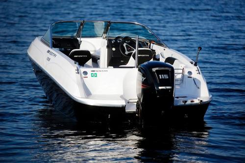 lancha mestra 19.8 motor yamaha 115hp 4t 0km pronta entrega