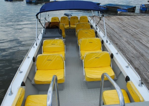 lancha metalglass passageiros taruma 700 max