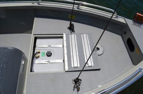 lancha metalglass savage 5513 double fishing