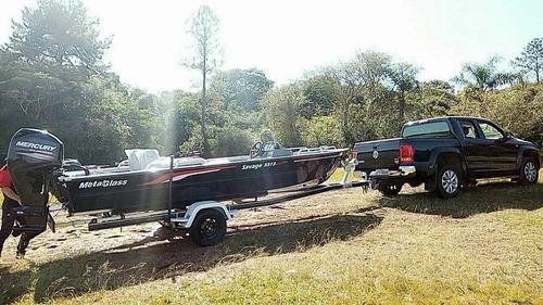 lancha metalglass savage 5513 double fishing com 50hp 2 temp