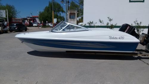 lancha nikita sport 470 mercury 40 hp 4cilindros comandos