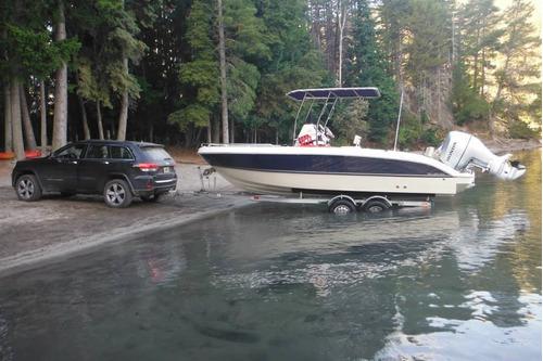 lancha nueva open con motor silver boats 210 consola central