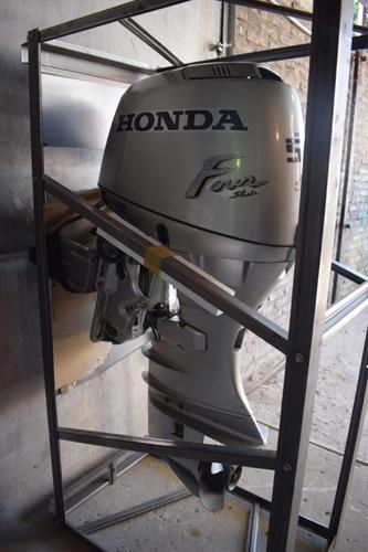 lancha open 3v 470 con motor honda 50hp 4t usada