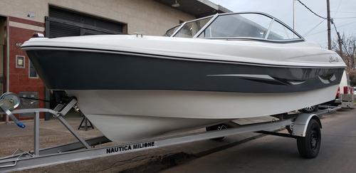 lancha open 3v bianca 510 evinrude 60 hp nautica milione 1