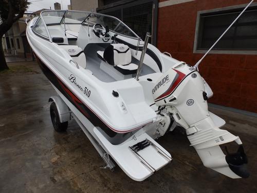 lancha open 3v bianca 510 evinrude 60 hp nautica milione 2