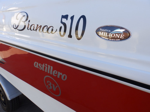 lancha open 3v bianca 510 evinrude 60 hp nautica milione 9