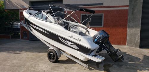 lancha open 3v bianca 510 power tec 40 hp nautica milione 3
