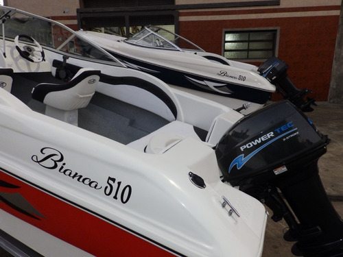 lancha open 3v bianca 510 power tec 40 hp nautica milione 8