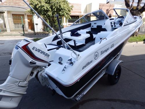 lancha open 3v tango 470 evinrude 60 hp eco2 nautica milione