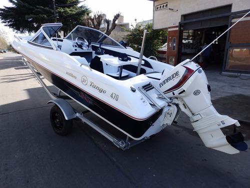 lancha open 3v tango 470 evinrude 60 hp ecol nautica milione