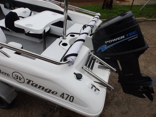 lancha open 3v tango 470 power tec 40 hp nautica milione 10