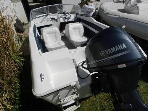 lancha open 4, 8 mts de lujo con yamaha 60 hp 4tiempos  efi