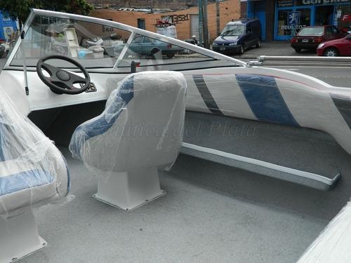 lancha open 475 nueva completa con motor ecologico 50 hp 0hs