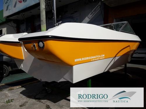 lancha open 490 equipada full s/motor oferta imperdible..!!!
