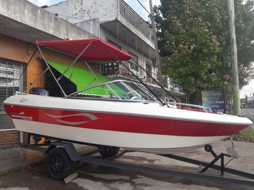 lancha open 490 motor yamaha 50hp 4t // equipada full