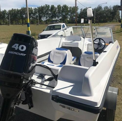 lancha open 5.20 paseo pesca familiar casco base