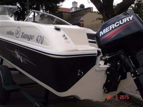 lancha open astillero 3v tango 470 mercury 40 hp elo super!!