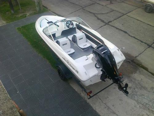 lancha open de 3 v completa sin motor y sin trailer