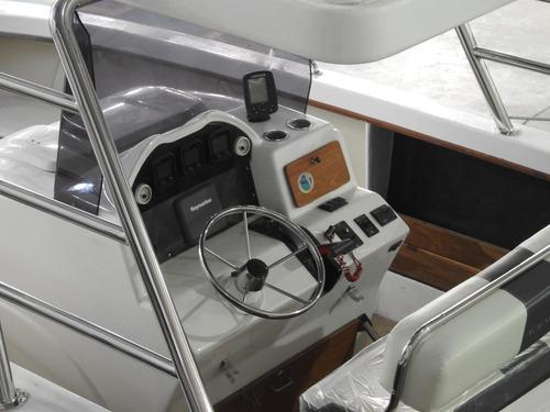 lancha open-pescadora aqualum c/ yamaha vmax 200hp