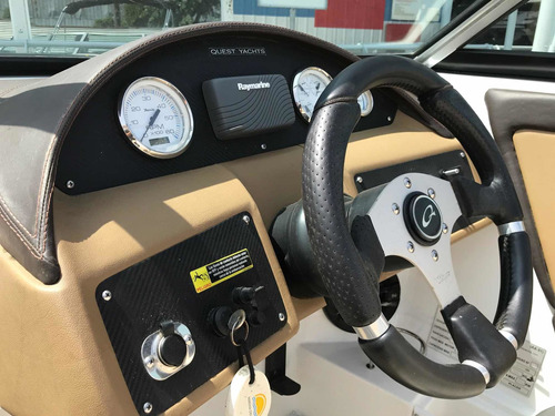 lancha open quest 210 con volvo 225 hp duoprop 2014 negra