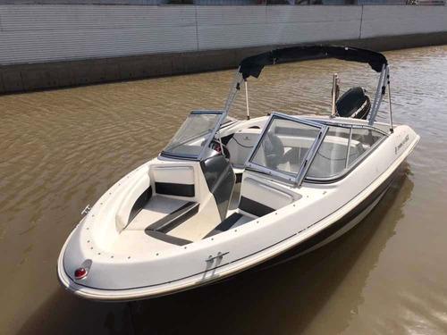 lancha open quicksilver 1600 con motor evinrude 90 hp 2014