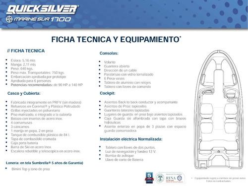 lancha open quicksilver 1700