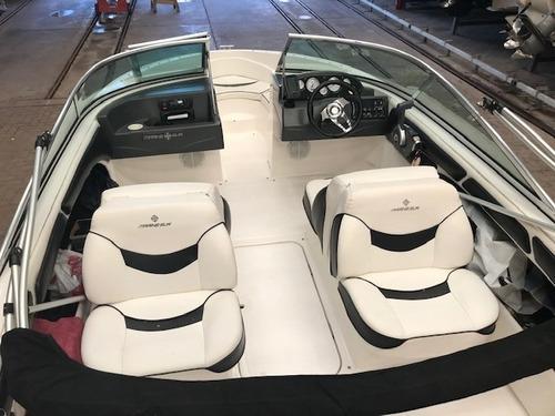 lancha open quicksilver 555 con evinrude 130 hp 2013 negra