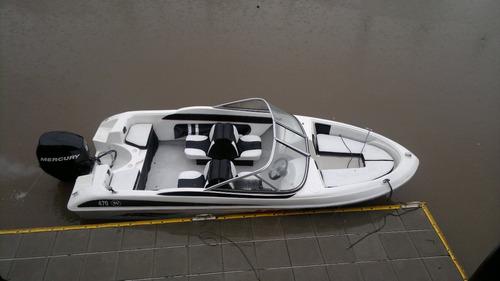 lancha open  tango 3 v con mercury 75 hp 4 tiempos todo okm