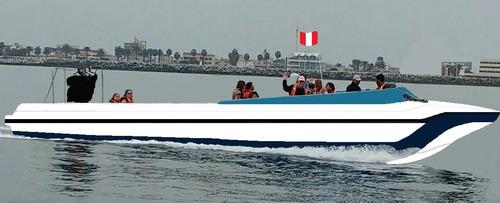lancha para turismo - transporte de pasajeros - fibra vidrio
