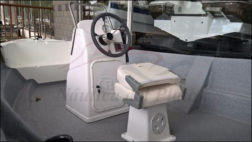 lancha pescadora traker 510 consola central motor mercury