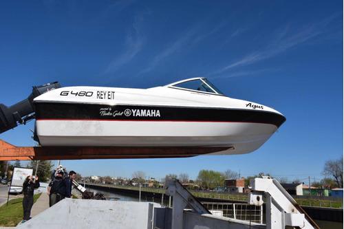lancha premium  g490  motor yamaha 70 hp 4 tiempos gabott