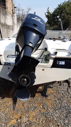 lancha quick silver 1600 - motor mercury 75 hp