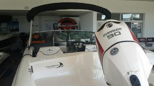 lancha quicksilver 1600 e-tec 90 con trailer. 20 hs .
