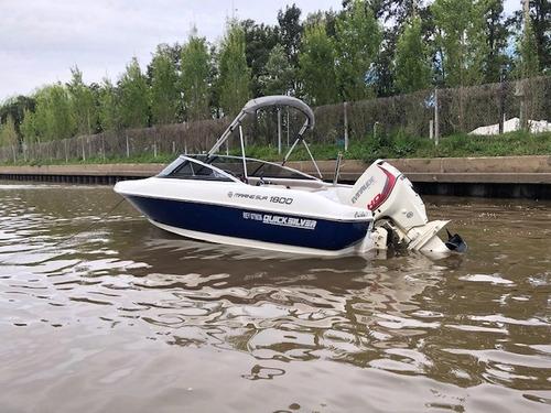 lancha quicksilver 1800 evinrude 135 hp ho gallino marine