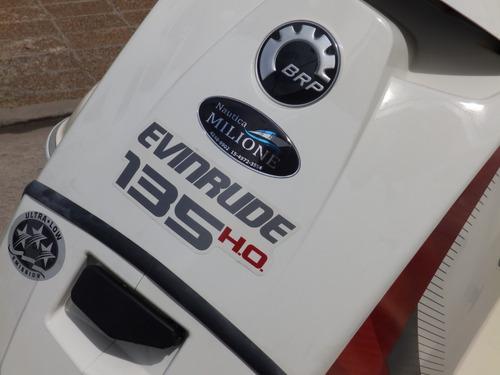 lancha quicksilver 1800 evinrude 135 hp ho nautica milione 2