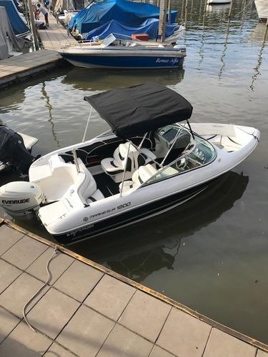 lancha quicksilver 1800 evinrude e-tec 130 hp nautica nahuel