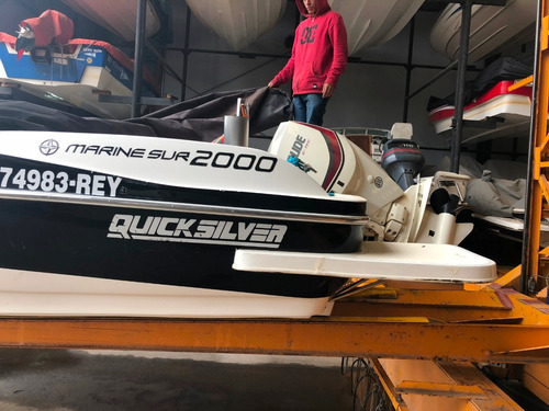lancha quicksilver 2000 motor evinrude etec 150hp