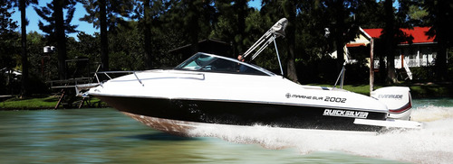 lancha quicksilver 2002 mercury 150 4t. cuddy, barco, yate.