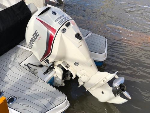lancha quicksilver 2500 evinrude 300 hp eco gallino marine