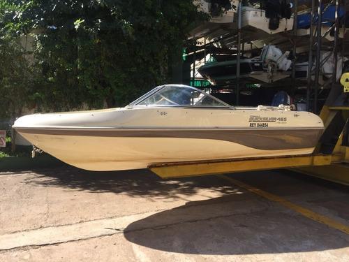 lancha quicksilver 465 motor yamaha 60 2t permuto!!