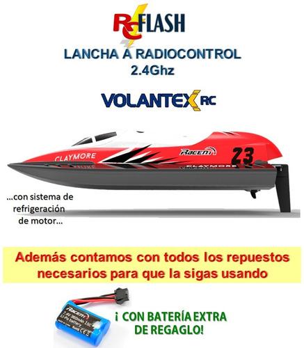 lancha radiocontrol 2.4g volantex con batería extra completa