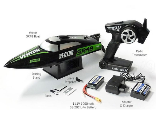 lancha rc volantex racent vector brushless 2.4ghz completas