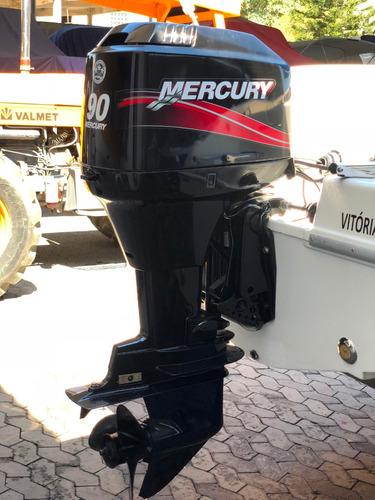 lancha real 19 pés com motor mercury