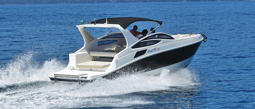 lancha real 270 open com mercruiser 4.5l 250hp nova
