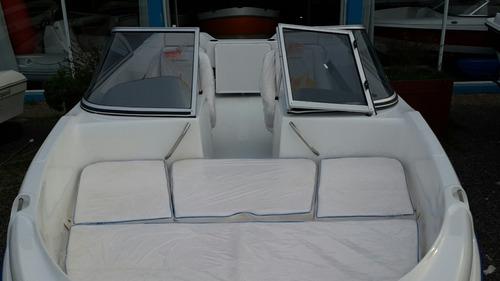 lancha robinson mantra mercury 40 trailer