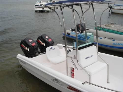 lancha sea crest fishing 150 yamaha f40 hp efi trim 4t -2020