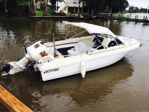 lancha sealiner 4,90 con johnson 150 hp