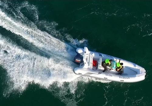 lancha semirrigido coralsea hifei hhc 360 25hp ap nautica